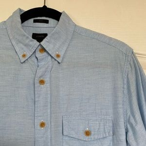 J Crew long sleeve button down in light blue